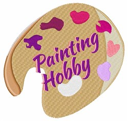 Painting Hobby embroidery design