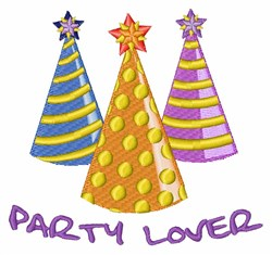 Party Lover embroidery design