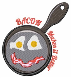 Bacon Is Better embroidery design