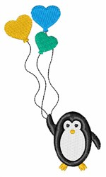 Valentine Penguin embroidery design