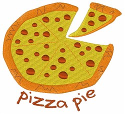 Pizza Pie embroidery design