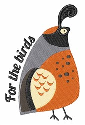 For The Birds embroidery design