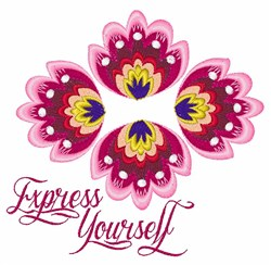 Express Yourself embroidery design