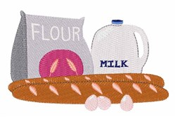 Flour & Milk embroidery design