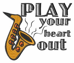 Play Heart Out embroidery design