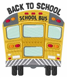 Back To School Bus embroidery design