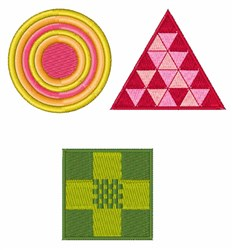 Patchwork Shapes embroidery design