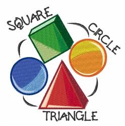 Square Circle Triangle embroidery design