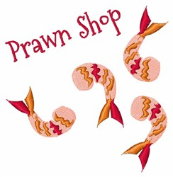 Prawn Shop embroidery design