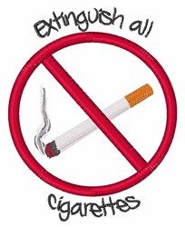 Extinguish Cigarettes embroidery design