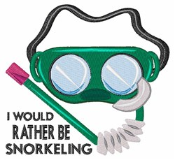 Rather Be Snorkeling embroidery design