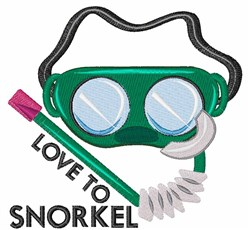 Love To Snorkel embroidery design