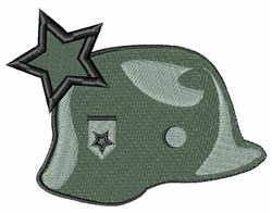 Military Helmet embroidery design