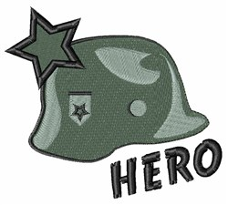 Hero Helmet embroidery design