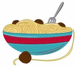 Spaghetti Bowl embroidery design