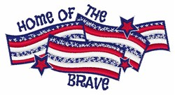 Home Of  Brave embroidery design