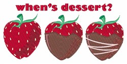 Whens Dessert? embroidery design