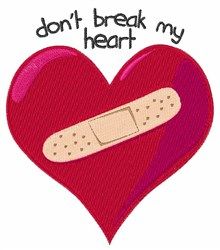 Dont Break Heart embroidery design