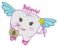 Believe embroidery design