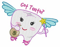 Got Teeth? embroidery design