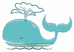 Spouting Whale embroidery design