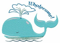 Whalecome! embroidery design