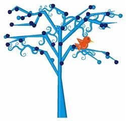 Bird In Tree embroidery design