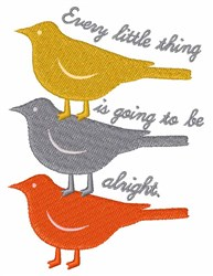 Everything Alright embroidery design