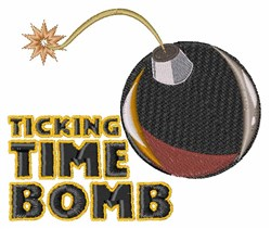 Time Bomb embroidery design
