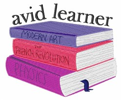 Avid Learner embroidery design