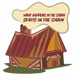 In The Cabin embroidery design