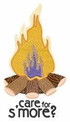 Care For Smore embroidery design