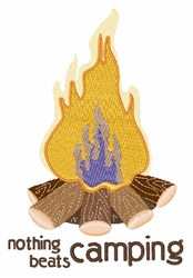 Nothing Beats Camping embroidery design