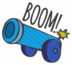 Boom Cannon embroidery design