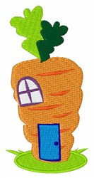 Carrot House embroidery design