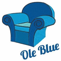 Ole Blue embroidery design