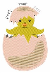 Peep Peep embroidery design