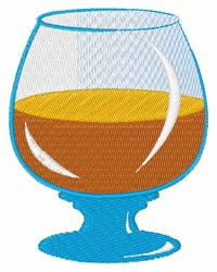 Drink Glass embroidery design