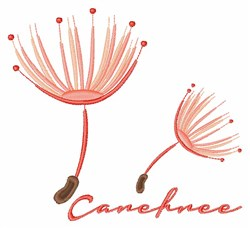 Carefree embroidery design