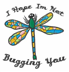 Bugging You embroidery design