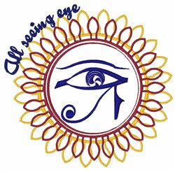 All Seeing Eye embroidery design