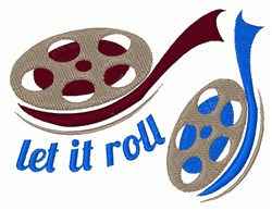 Let It Roll embroidery design