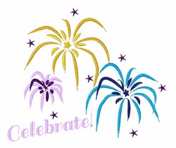 Celebrate embroidery design