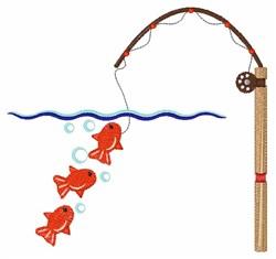Fishing Scene embroidery design