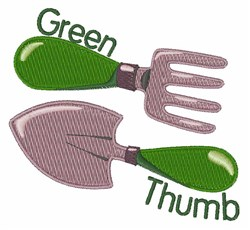 Green Thumb embroidery design