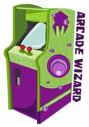 Arcade Wizard embroidery design