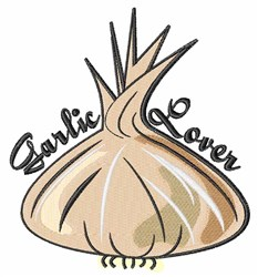 Garlic Lover embroidery design