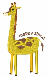 Make A Stand embroidery design
