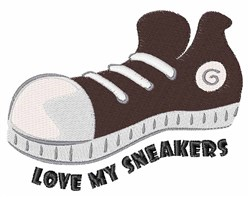 My Sneakers embroidery design