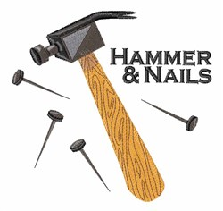 Hammer & Nails embroidery design